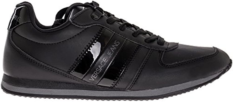 Versace Jeans Side Stripe Hombre Zapatillas Negro -