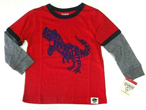 OshKosh B'Gosh 62/68 Langarmshirt für Jungen Boy USA Size 6 Month Sweatshirt rot Dinosaurier Oshkosh Usa-sweatshirt