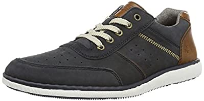 A trendy casual mens lace up from Rieker. In soft navy nubuck with punched toe and side with contrast tan leather heel cap. Lined in cushioned chambray with a soft leather footbed. To view our full range of Mens Rieker Shoes, click here.