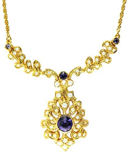 Edwardian Kostüm Schmuck - Cristalina Halskette 18 kt vergoldet Barock