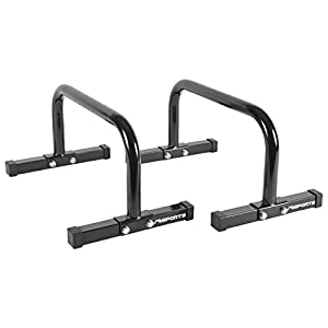 MSPORTS Low Fitness Parallettes Minibarren Professional LxBxH: 60x35x29 cm| Push-Up Bars Liegestützgriffe