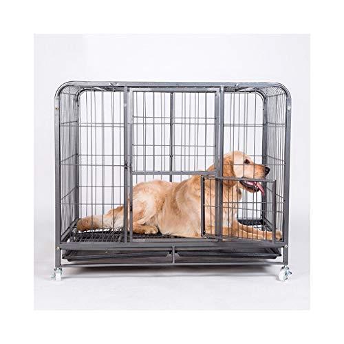 Single Zaun (Zaun Haustiersportstift Dog Box Single Dog Edelstahl Hundebox mit abschließbarem Schrank Welpenspiel Stift)