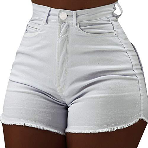 accb2c49acb0f3 UJUNAOR Pantaloncini Donna,Pantaloncini di Jeans Donna,Pantaloncini Vita  Alta ...