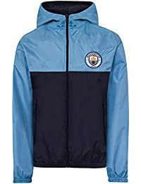 Manchester City FC Official Football Gift Boys Shower Jacket Windbreaker