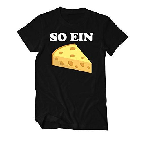 So ein Käse Fun T-Shirt Herren Schwarz