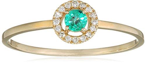 Tous mes bijoux anillos Mujer oro amarillo 9 k (375) esmeralda