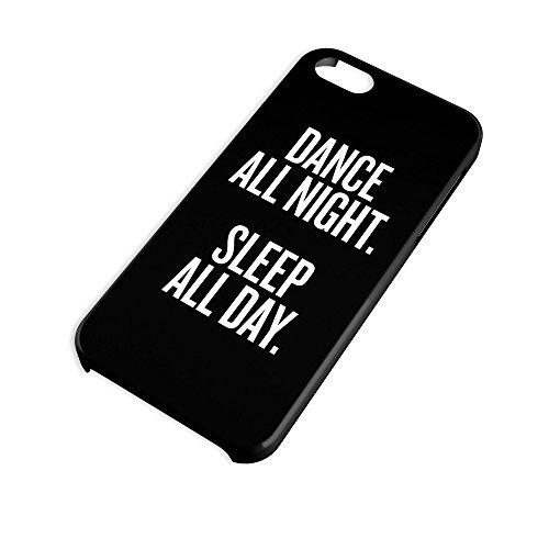 All Day Black für iPhone 6 Hipster Hülle Cover Case Bumper Schutzhülle Schale Swag Loomiloo® Schwarz