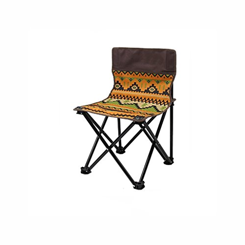 TangMengYun Folding Camping Stuhl Rückenlehne Portable Klappstuhl Freizeit Stuhl Strand Stuhl Outdoor Angeln Folding Hocker (Color : Bohemian Stripes, Size : 39 * 39 * 58cm) -