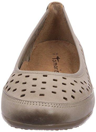 Tamaris 22115 Damen Geschlossene Ballerinas Braun (Pepper 324)