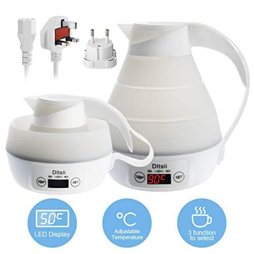 silicone Esposizione di LED del bollitore elettrico di viaggio pieghevole portatile del Controllo preciso della temperatura per acqua calda Caldaia del caffè del latte dell\'acqua
