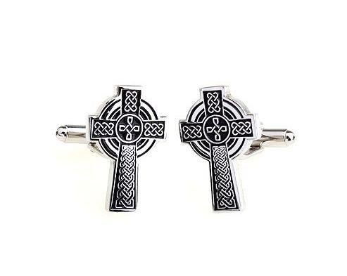 Bouton de manchette croix celtique