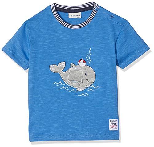 SALT AND PEPPER Baby-Jungen T-Shirt B Pirat Uni Wal mobil, Blau (Strong Blue 465), 74 (Piraten-baby)