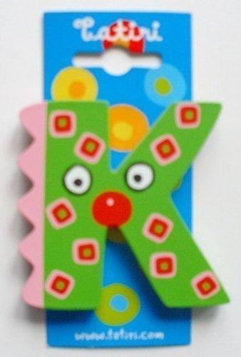 """Tatiri 72020 Holzbuchstabe""""crazy bird - K"""", 7 cm"""