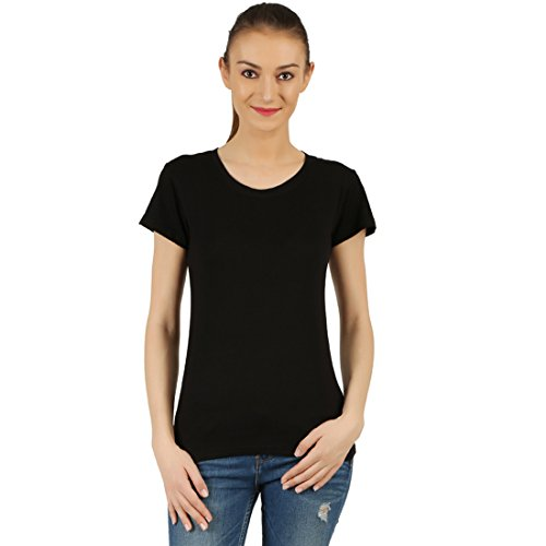 T-Shirt.ind.in Casual FINE Womens Graphit Round Neck T-Shirt  available at amazon for Rs.170