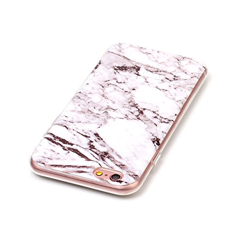 "MOONCASE Ultra-mince Motif Marbre Naturel Blanc Rayure TPU Silicone Housse Coque Etui Gel Case Cover Pour iPhone 6 / iPhone 6S 4.7"" Blanc"