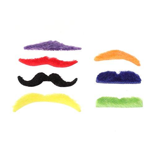 Amosfun Gefälschte Bärte Prom Supplies Gefälschte Bart Performance Requisiten Halloween Kostüme Cosplay Leistung Makeup Dress up 7 Farben