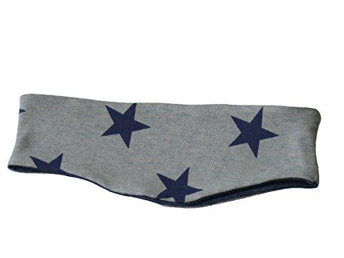Fitzibiz Stirnband Baumwoll-Jersey, Sterne, Streifen, Motive, Uni (98, Blau (Jan))