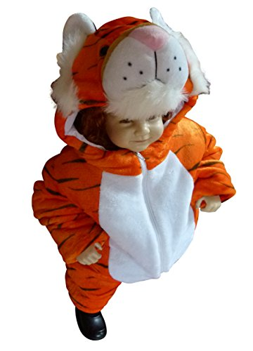 Tiger-Kostüm, F94 Gr.74-80, für Klein-Kinder, Babies, Tiger-Kostüme für Fasching Karneval, Kleinkinder-Karnevalskostüme, Kinder-Faschingskostüme, Geburtstags-Geschenk ()
