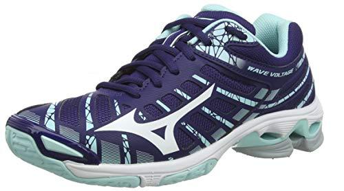 Mizuno Wave Voltage, Zapatillas de Voleibol para Mujer, Morado (AstralAura/White/BlueLight 15), 40.5 EU