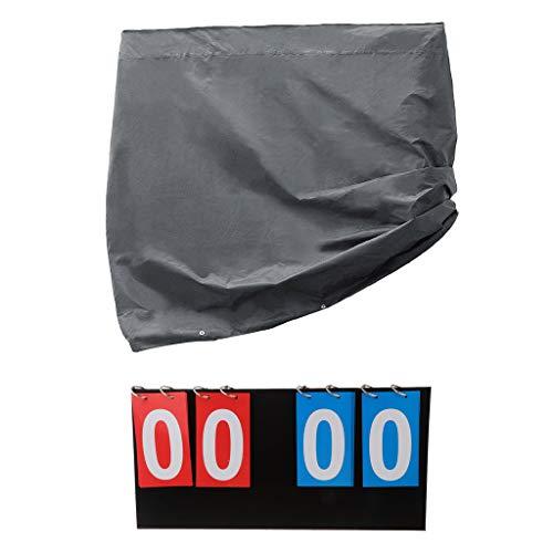 KESOTO 2tlg Abdeckhülle Schutzhülle Zähltafel Anzeigetafel Tischtennis Abdeckung für Tischtennisplatte Indoor Outdoor Schutz