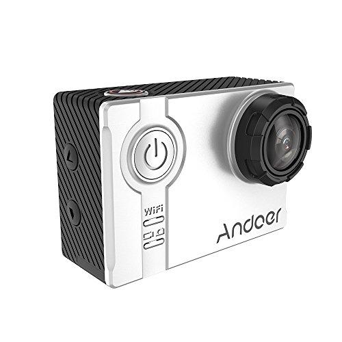 "Andoer AN7000 4K 1080P 120fps 720P 240fps HD Adoptar para A12S75 16MP WiFi Anti-sacuda Impermeable 60m2.0"" LCD Lente - Plata"