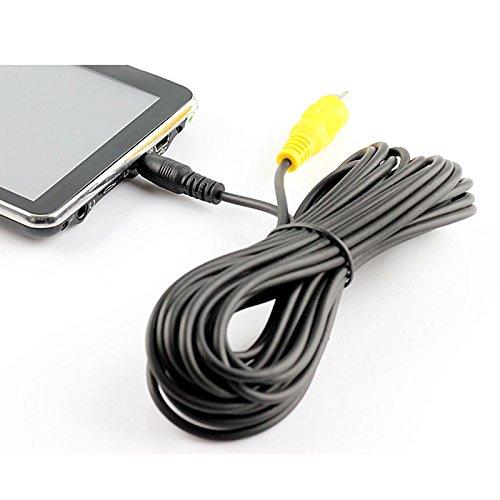 Cocar Verlängerungskabel RCA Phono Cinch zu GPS Dashcam DVR 2.5mm Aux Klinke Stecker AV-in Kamera für Rückfahrkamera Autoparksysteme Tablet Kompatibel mit Tomtom Garmin Rand McNally Etc. (6M 20FT)