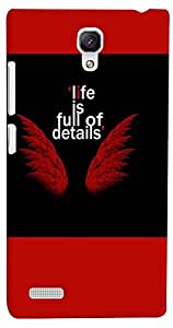 PrintVisa Quotes Angel Case Cover for Xiaomi Redmi Note/Note 4G