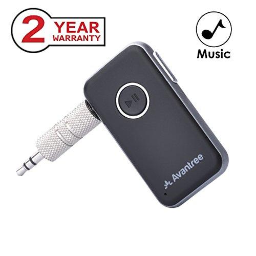 Avantree Portabler Bluetooth 4.1 Car Kit, Mini Wireless Audio Musik Receiver Adapter mit 3.5mm Aux für Lautsprecher Kopfhörer, Hands Free Anrufe mit - Aux Receiver For Bluetooth Car