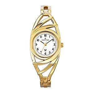 Certus - 631662 - Montre Femme - Quartz Analogique - Cadran Blanc - Bracelet Métal Doré