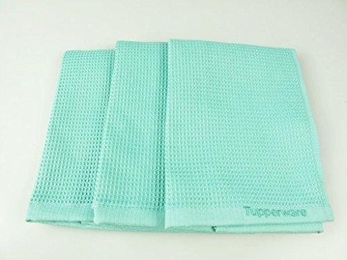 TUPPERWARE FaserPro Glas helles türkis T22 Fenster (3) Mikrofasertuch
