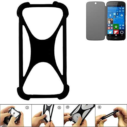 K-S-Trade Handyhülle für ACER Liquid Jade Primo Schutz Hülle Silikon Bumper Cover Case Silikoncase TPU Softcase Schutzhülle Smartphone Stoßschutz, schwarz (1x)