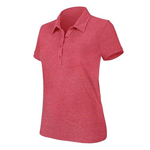 Kariban Melange - Polo à manches courtes - Femme Rouge chiné