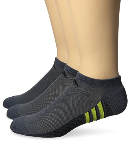 Adidas pour homme Superlite No Show Chaussettes (3-Pack) Dark Grey/Shock Slime Green/Black