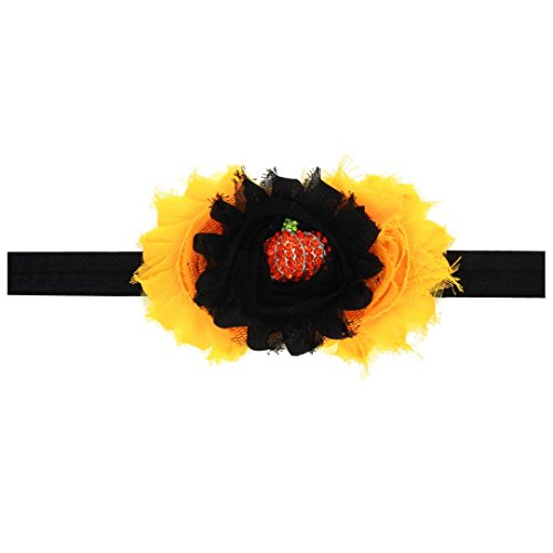 Fulltime(TM) Baby Girl Halloween Coiffe Elastic Band Hair (Noir)