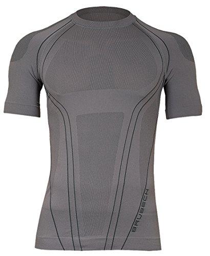 Brubeck FIT Seamless FitnessShirt Funktionsshirt Sportshirt T-Shirt (Herren Alpin Langlauf Radsport Fitness Yoga Pilates Taichi Meditation Kampfsport Funktionswäsche)