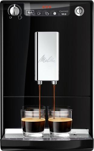 418iPBGC0XL - Melitta E950-101 CAFFEO Bean to Cup Coffee Machine, Solo, Plastic, 1400 W, 1.2 liters, Black