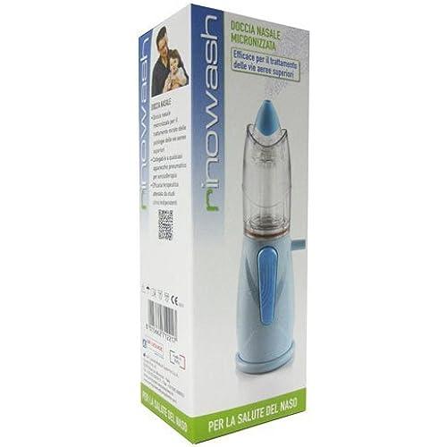 Air Liquide Healthcare Rinowash Doccia Nasale Micronizzata per la terapia aerosolica, Terminale in morbido silicone