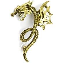 Elixir77UK color dorado antiguo Dragon puños de piel de serpiente para el cartílago de la izquierda de tuerca de perforadas pendiente para brillantes