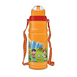 Milton Kool Floric 500ml Insulated Plastic Bottles - Orange