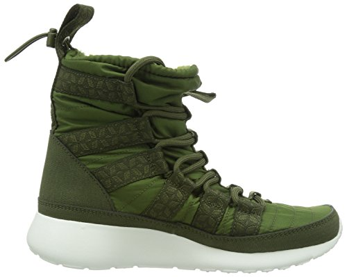 Nike Wmns Rosherun Hi Sneakerboot, Scarpe sportive, Donna Rough Green/Sail