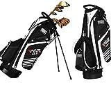 HJJGRASS Golfbag Golftasche Cart Tragegurt Mit Stehbügel Und Riemenscheibe Reise Flug Taschen wasserdichte Doppelband Golf Club Organizer(90 * 40 * 28 cm)