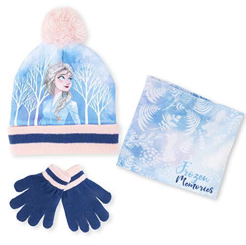Paw Patrol. Mütze Schal und Handschuh Set Kinder Wintermützen für Mädchen und Jungen Mütze Marvel Avengers Spiderman Frozen Anna Elsa (FrozenSet)