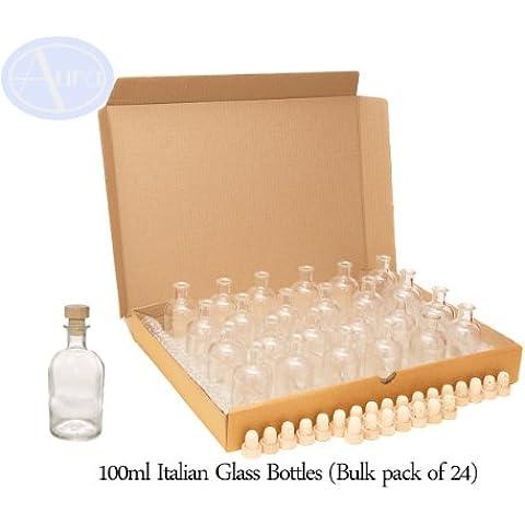 Bottigliette in stile italiano da 100ml con tappo in legno
