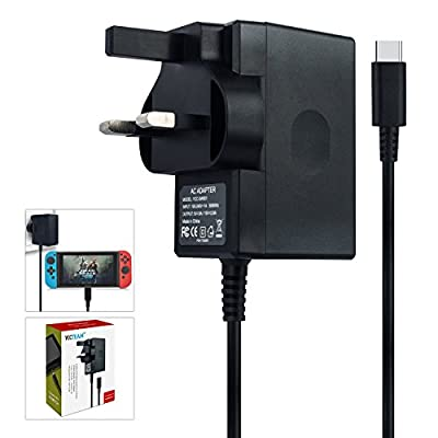 Nintendo Switch Charger, Nintendo Switch AC adapter Fast Travel Wall Charger with 5FT USB Type C Cable 15V/2.6A Power Supply for Nintendo Switch Supports TV Mode and Dock Station by YCCSKY