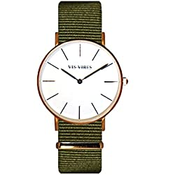 Vis Vires Ladies Khaki Rose Gold Timepiece 36mm