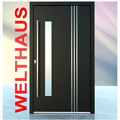 Haustür Welthaus WH75 Standard Aluminium mit Kunststoff LA122 Bremen Tür nach mass gemacht Farbe aussen anthrazit Innen weiß außengriff BGR1400 innendrucker M45 Zylinder 5 Schlüßel