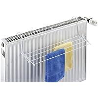 WENKO 3780010100 Heizkörper-Wäschetrockner, Handtuchhalter für Heizkörper, pulverbeschichtetes Metall, 58 x 15 x 16 cm, weiß