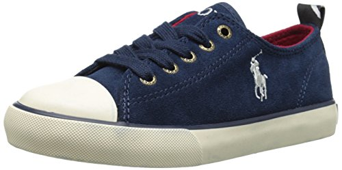 Polo Ralph Lauren Polo Falmuth Low Navy Suede Youth Trainers Navy