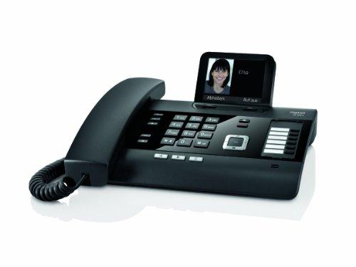 Gigaset DL500A Komfort Telefon -  Schnurgebundes Telefon / Schnurtelefon - Anrufbeantworter - Farbdisplay - Freisprechen / Dect Telefon - schwarz - 3