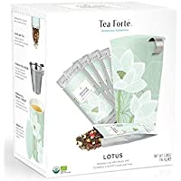 Tea Forté - Kati Mug Lotus Starter Kit - Pack Taza con Infusor + 10 Bolsitas de té e Infusiones - Capacidad 35 cl